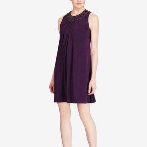 American Living Beaded-Neck Jersey Dress